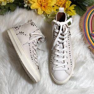 Coach Shoes - Coach Prairie Rivet High Top Sneaker 8.5
